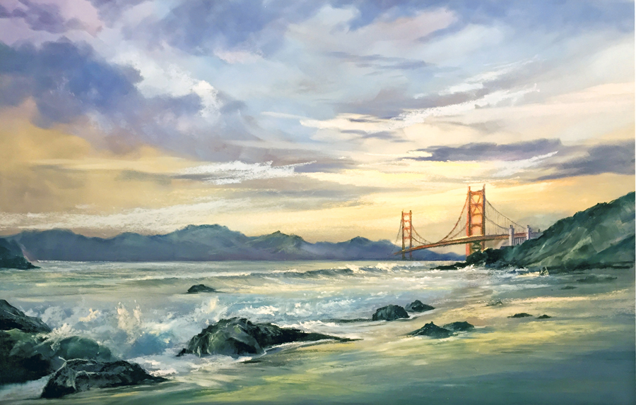 San Francisco Pastel Painting