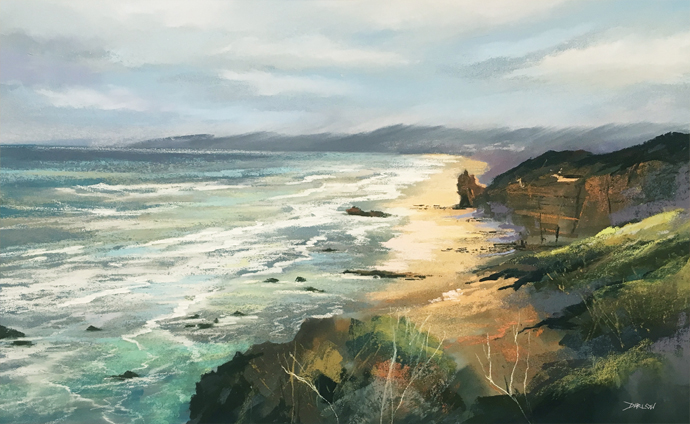 Great Ocean Road Pastel